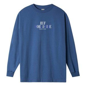 HUF OR DIE LONG SLEEVE T-SHIRT (INSIGNIA BLUE)